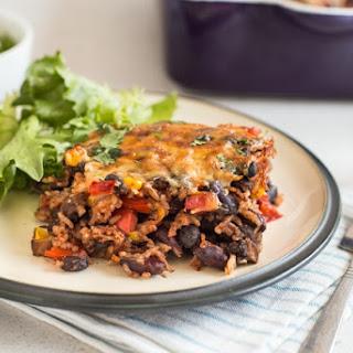One Pot Vegetarian Chilli and Rice Bake Recipe