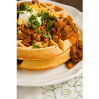 Cornmeal Waffles With Spicy Chili.