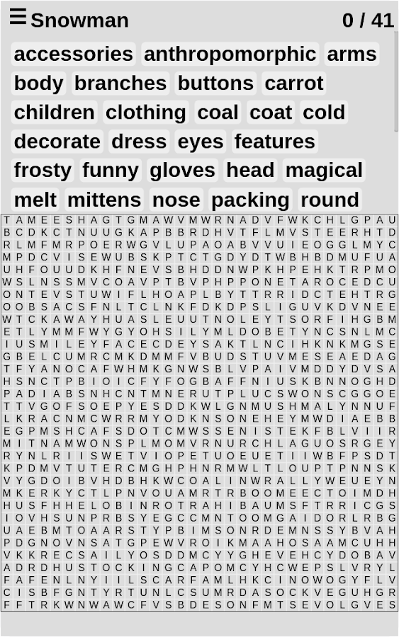 Word Search Library- screenshot