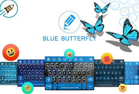 Blue Butterfly Keyboard - náhled