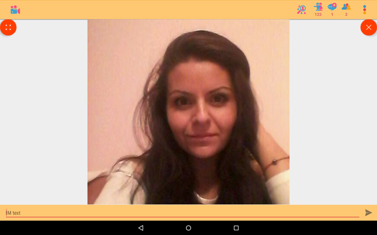 Live video chat rooms- screenshot