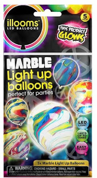 Illooms LED Balloons Marble Light Up Balloons - 5 Pack