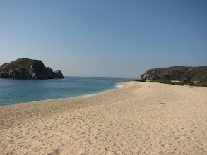 Photo: The very large and secluded beach in the NP.
