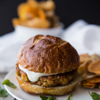 Curried Carrot Chickpea Chia Burgers.