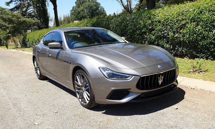 Maserati plugs into the electric era with its swift and silent Ghibli Hybrid. Picture: DENIS DROPPA