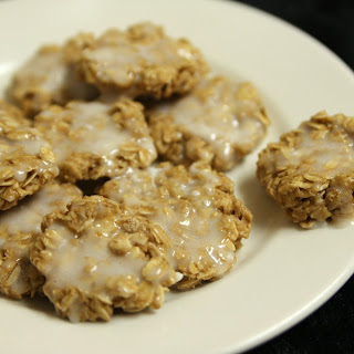 No Bake Banana Glazed Peanut Butter Cookies