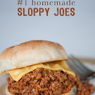 #1 Homemade Sloppy Joes.