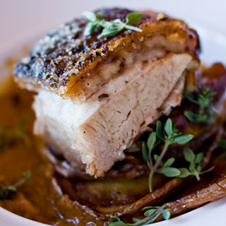 Braised Wild Boar Belly with Crispy Yukon Gold Potatoes