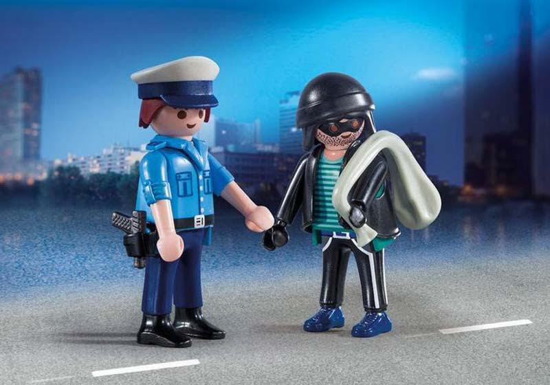 Contenido real de Playmobil® 9218 Duo Pack Policía y Ladrón