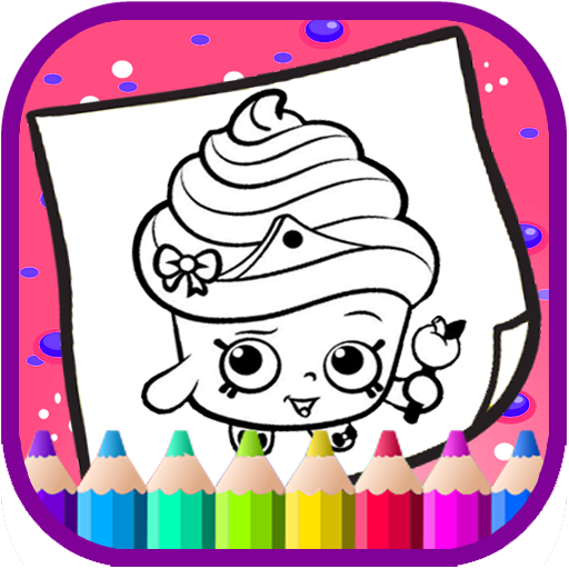 Art Games shopkins Coloring Page (game)