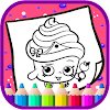 Art Games shopkins Coloring Page Icon