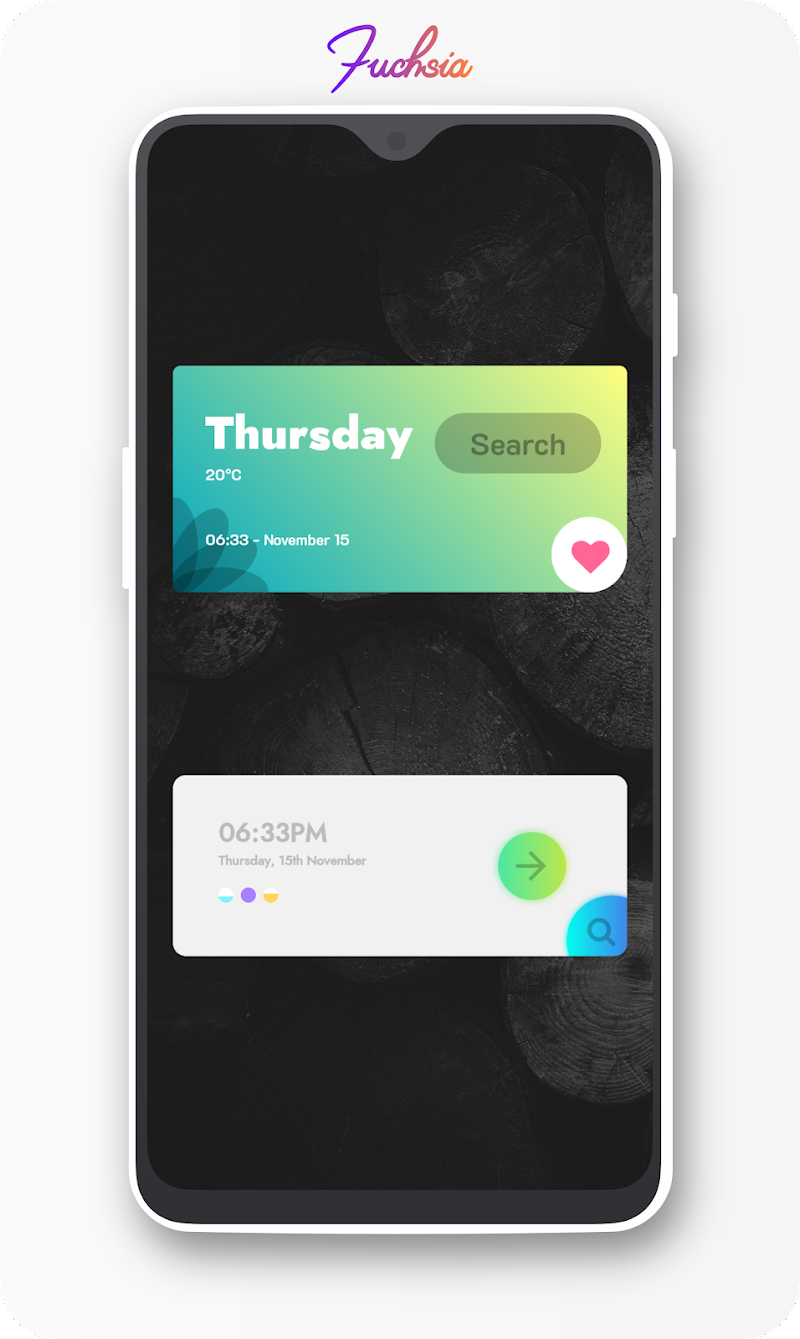 Fuchsia KWGT - Gradient Based Widgets Screenshot 8