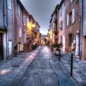 Sainte Maxime by Ioan G Hiliuta - City,  Street & Park  Street Scenes ( cote d'azur, sainte maxime, hdr, street, france, city )