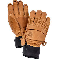 Leather Fall Line Brun 5-Fingerhandske