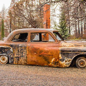 Four on the Floor by Michael Mercer - Transportation Automobiles ( junkyard cars, rusty cars, classic cars )