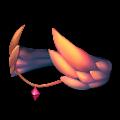 赤い翼のヘアアクセ