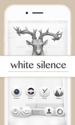 White Silence GOLauncherTheme