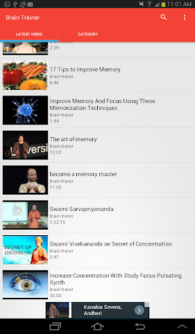 android Brain Trainer Videos Screenshot 5