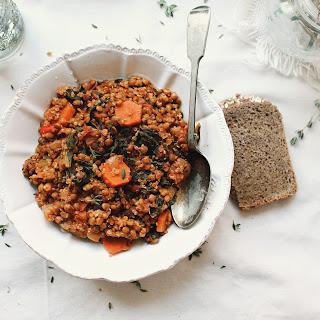 Thyme Chard Lentil Quinoa Soup