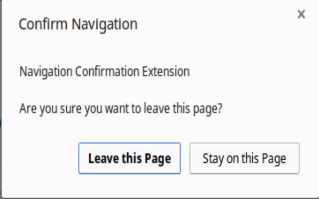 Navigation Confirmation