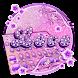 Neon Purple Love Keyboard Theme