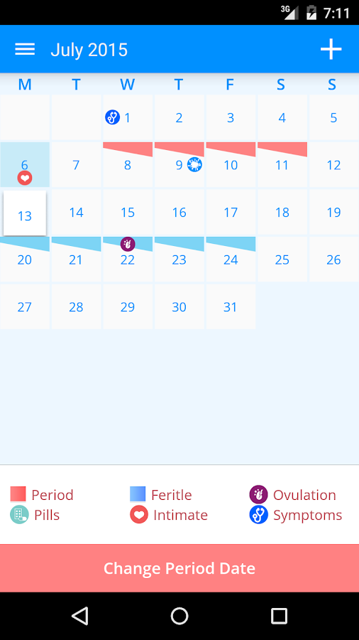 Menstrual Calendar- screenshot