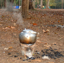 Photo: Boiling water at the campsite 1.5km from Thilorsu waterfall, Umphang