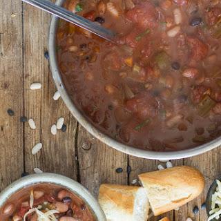 Homemade 3 Bean Vegetarian Chili.