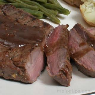 Grilled Marinated Sirloin Steak.