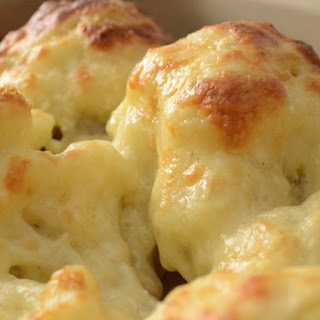 Low Fat Cheesy Cauliflower.