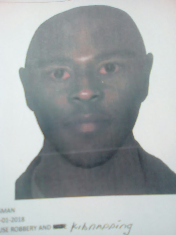 An identikit of a man suspected to be involved in the kidnapping of two children in Witbank