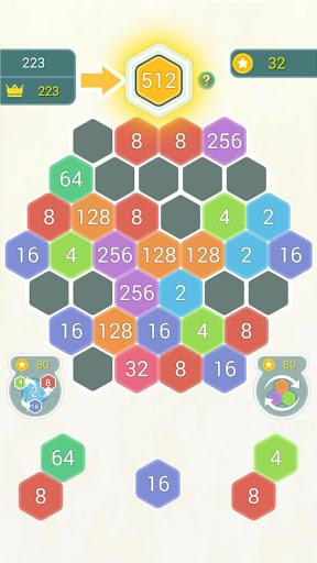 HexPop:Make number to 2048,Free Merge Puzzleu00a0Games apktram screenshots 6