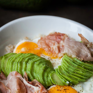 Rice With Fried Eggs And Avocado