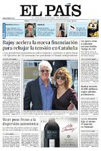 Photo: En la portada de EL PAÍS del sábado 22 de noviembre: Rajoy acelera la nueva financiación para rebajar la tension en Cataluña; Wert pone freno a la dispersión autonómica; en la revista de Sábado: Hugo Chávez, un casanova venezolano. http://srv00.epimg.net/pdf/elpais/1aPagina/2012/09/ep-20120922.pdf