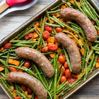 Sheet Pan Italian Sausage and Veggies.
