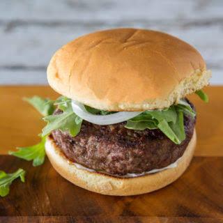 Brie and Scallion Stuffed Hamburger.
