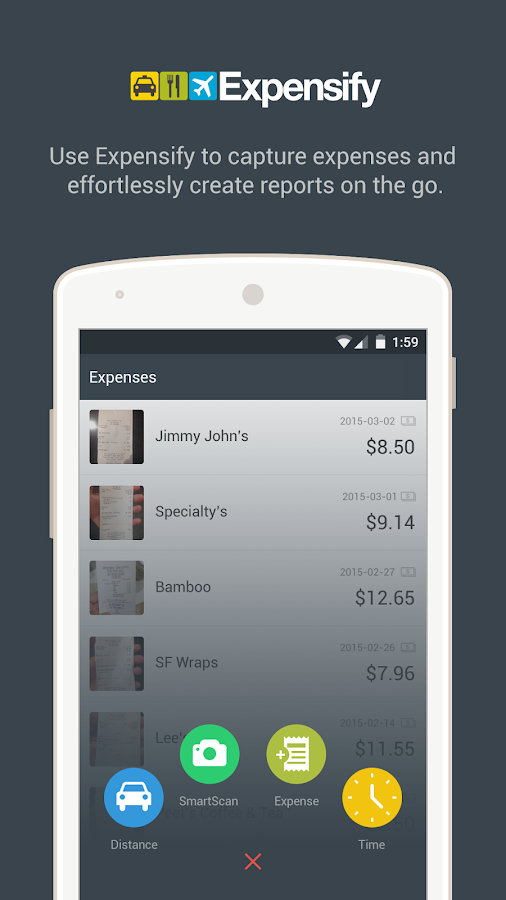 Expensify - Expense Reports - screenshot