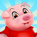 Three Little Pigs - Fairy Tale with Games Free icon