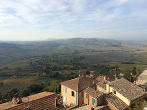 Photo: The view from Montepulciano