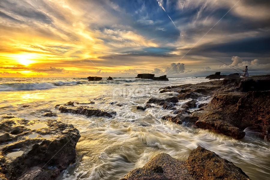 by Hendri Suhandi - Landscapes Sunsets & Sunrises ( clouds, bali, sunset, beach, landscape )