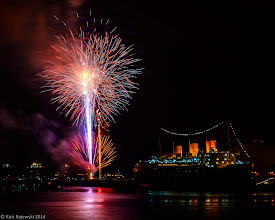 Photo: Fourth of July, 2014 - Fireworks show over Queen Mary, Long Beach, California