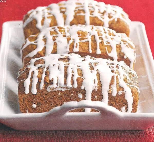 Sweet Potato Pie Bread With Marshmallow Glaze