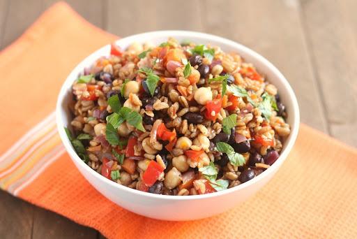 Vegetable Farro Protein Power Bowl