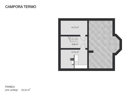 Campora Termo - Rzut piwnicy