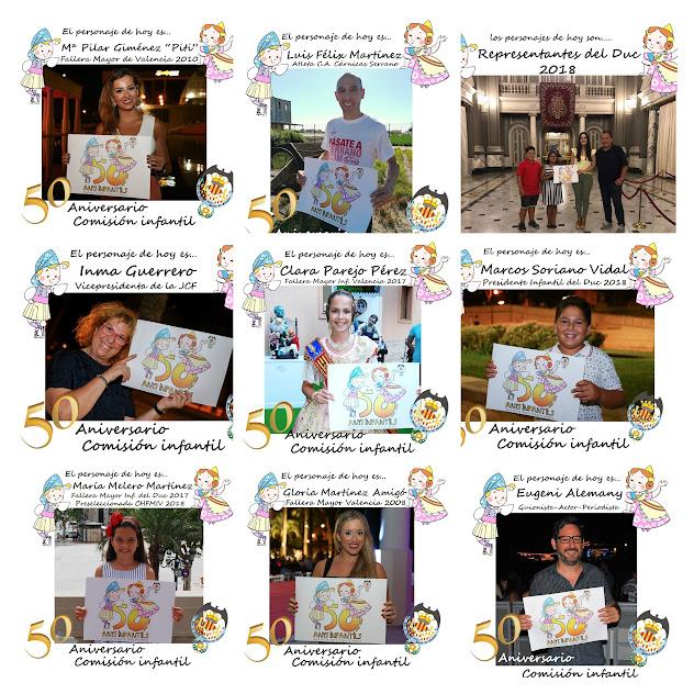 Personajes Celebración 50 aniversario Infantil