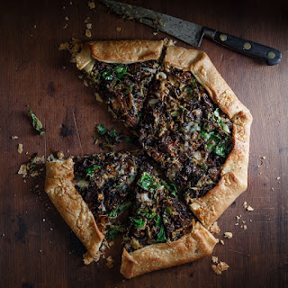 Caramelized Onion & Brussels Sprout Galette Recipe