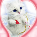 Blue Eyes Cat With Arrow Live icon