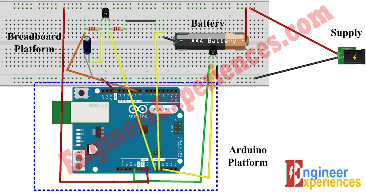 Circuit of Arduino based battery charger