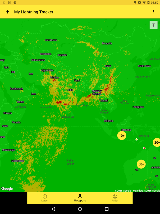Lightning Tracker Live Storms- screenshot