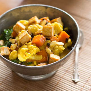 Coconut Curried Vegetables with Tofu & Forbidden Rice